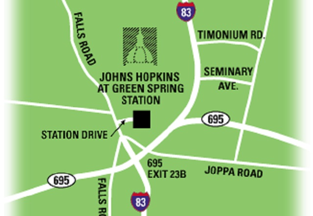 location map of green spring station office