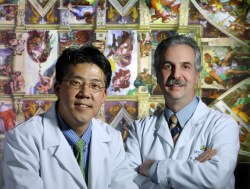 Ian Suk, a medical illustrator, and Rafael Tamargo, a neurosurgeon, discovered hidden images of a brainstem and spinal cord in Michelangelo's Sistine Chapel fresco.