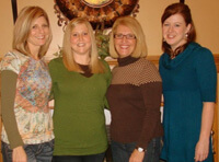 The women of the Cregger family helped care for Megan after her transplant.