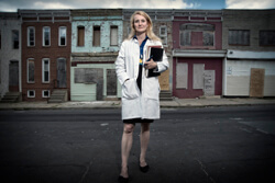 Andrea Cox is leading a vaccine trial among IV drug users in Baltimore.