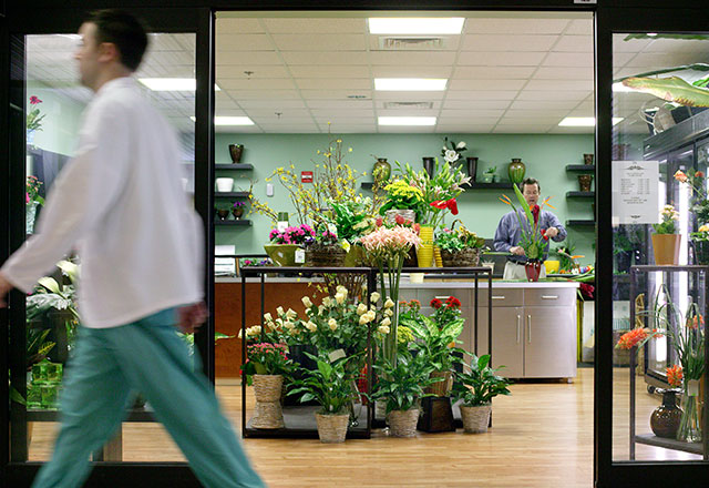 the exterior of the flower shop at The Johns Hopkins Hospital