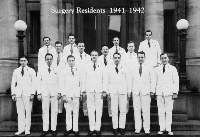 neurosurgery residents from 1942: group photo