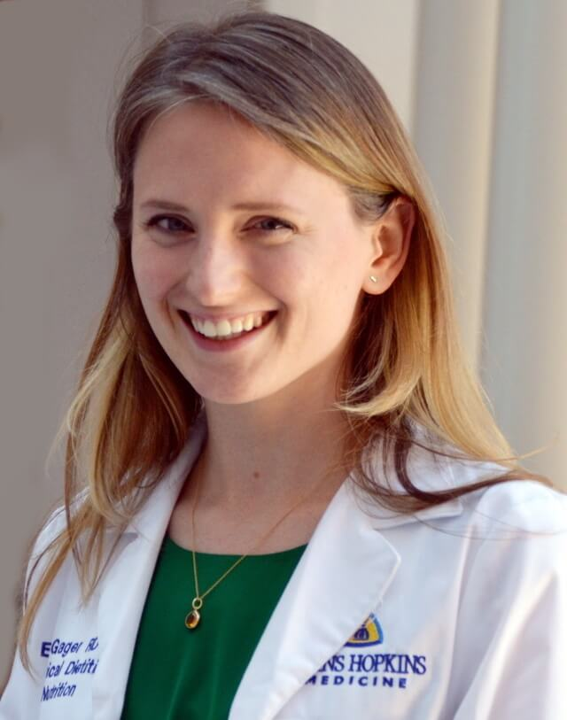Johns Hopkins research nutritionist Erin Gager headshot