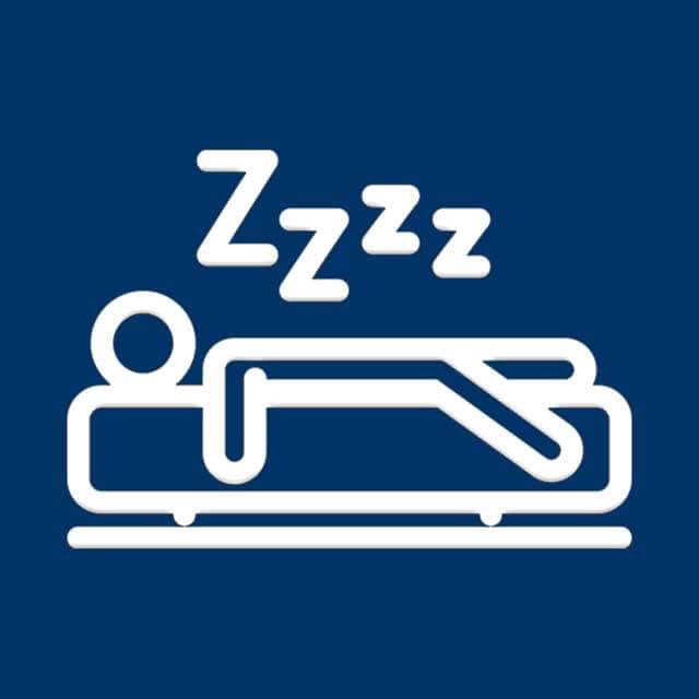 Illustrated figure sleeping