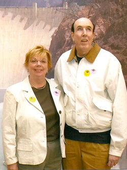 Although his heart had been weakened by Marfan syndrome, Ron Morford and his wife, Faye, enjoyed a trip in 2006 that included a visit to Hoover Dam. Today, Faye has found comfort in supporting research on the condition that claimed her husband's life.