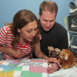 Jaime Herrera Beutler and her husband, Daniel, with Abigail.