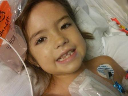 7-year-old cardiac patient Ally Fowler