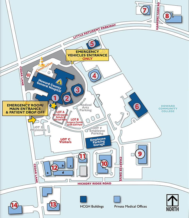 Jhh Campus Map.Johns Hopkins Hospital Map Traffic Club
