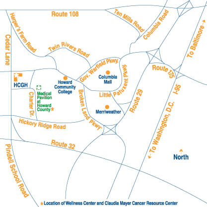 Directions To Claudia Mayer Cancer Resource Center Howard County