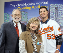 George Dover, Judy Reitz and Zach Britton