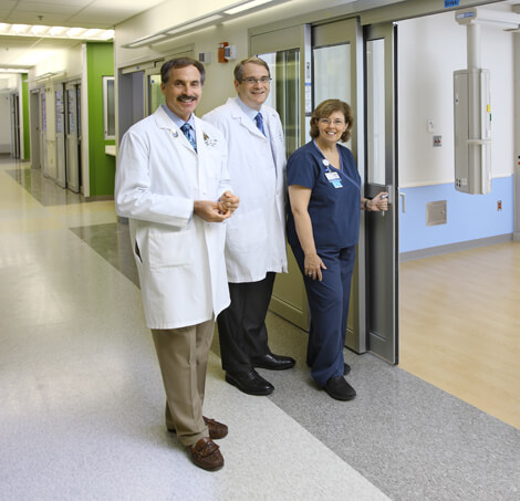 Marek Mirski, Henry Brem and Gail Biba will lead teams caring for patients in Hopkins' new NCCU, located in the Sheikh Zayed Tower scheduled to open in April 2012. The new NCCU's features were specifically designed to optimize the patient experience.
