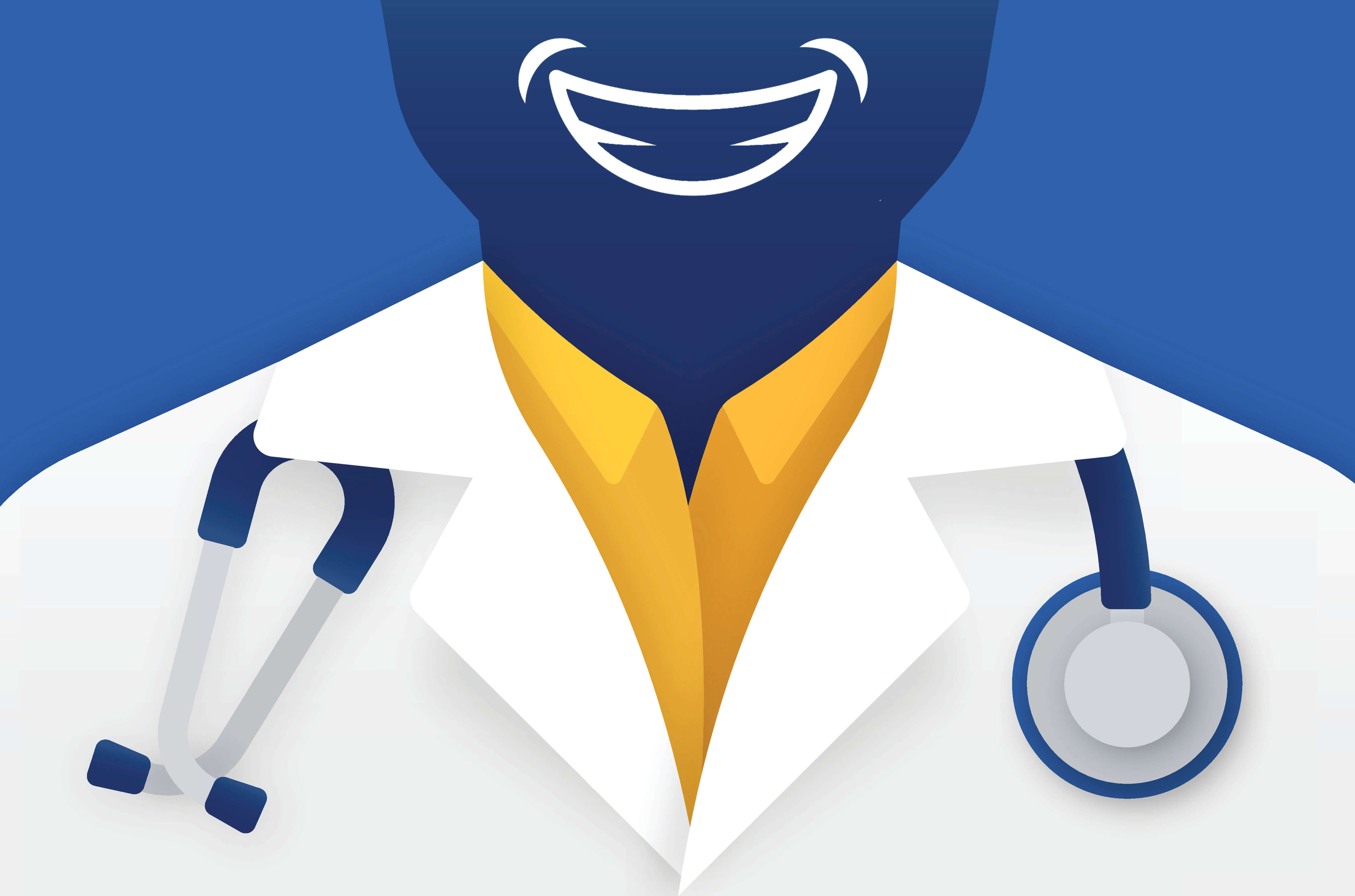 Doctor smiling graphic
