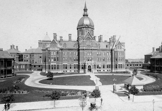 The Johns Hopkins Hospital in 1889.