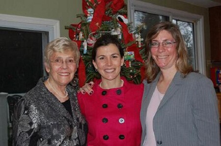 Left to Right: Caring Collection's Bobbie Burnett, Darby Steadman, and Dr. Leisha Emens