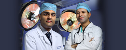 two doctors standing in an operating room