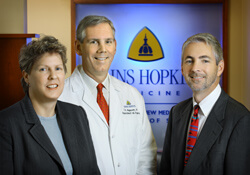On a mission to boost Surgery's numbers at Johns Hopkins Bayview Medical Center are Michele Mehrling, Thomas Magnuson and Mark Duncan.