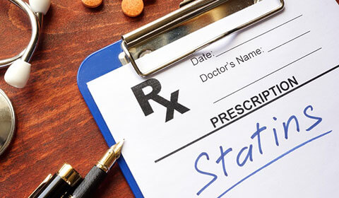 Prescription note for statins.