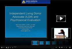 Independent Living Donor Advocate and Psychosocial Evaluation