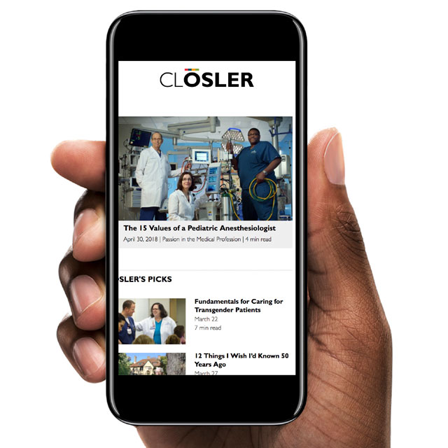 mobile phone showing closeler.org website