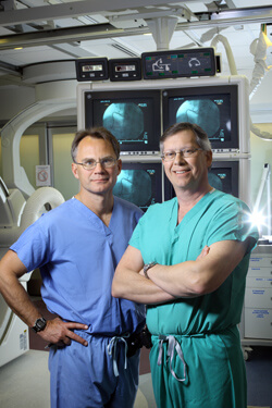 Cardiologist Jon Resar and cardiac surgeon John Conte work together to offer patients a minimally invasive aortic valve replacement.