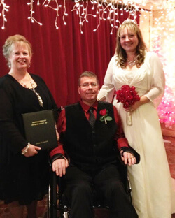 Jeff Dalton, diagnosed with Guillain-Barre syndrome and treated at Johns Hopkins, married his girlfriend, Christina, late last year.