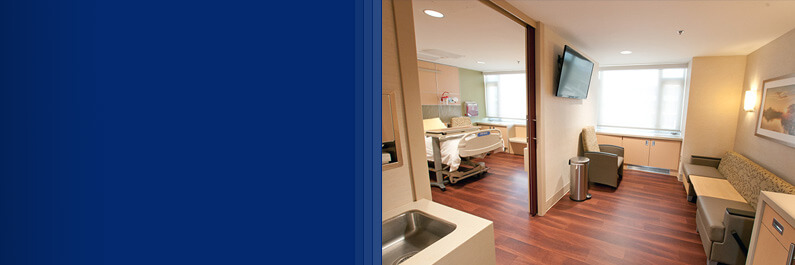 Private post-partum recovery room at Sibley Memorial Hospital