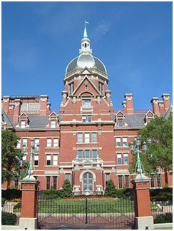Johns Hopkins Famous Dome from Front