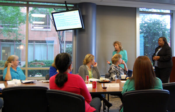 Patient-Family Advisory Council meeting taking place