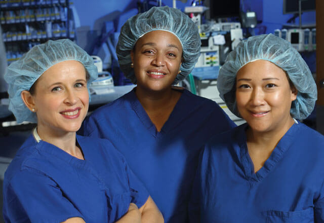Endometriosis Clinical Care Team in Scrubs