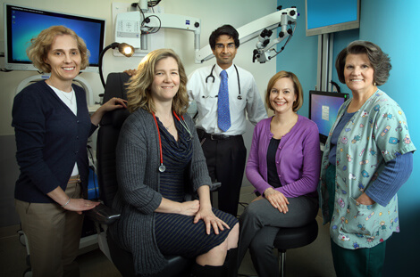 Margaret Skinner, second from left, along with members of the Multidiciplinary Pediatric Aerodigestive Team.