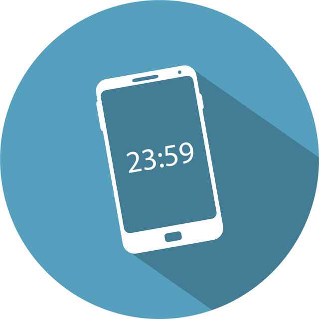 illustration of time on a phone screen