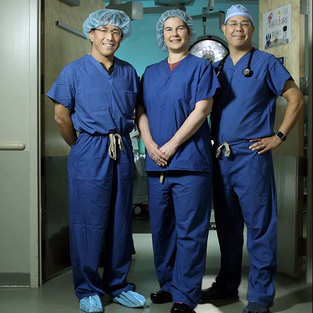 Drs. Narutoshi Hibino, Kristen Nelson and William Ravekes