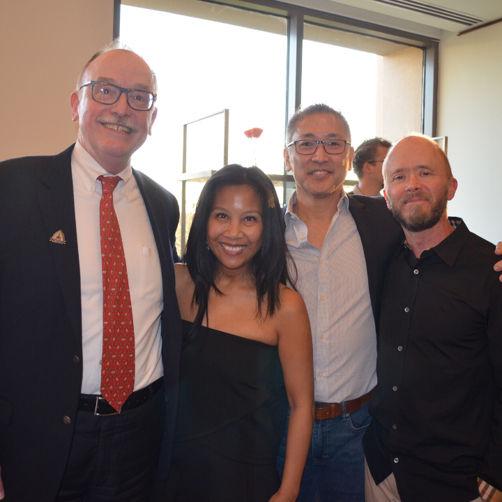 Anthony Venbrux, Lisa Ignacio, Douglas Yim and Kelly Van Epps at an alumni event.
