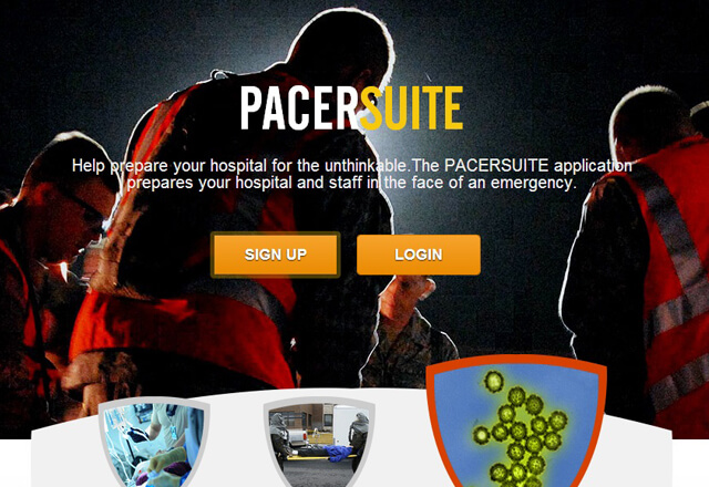 Pacer Suite Landing page