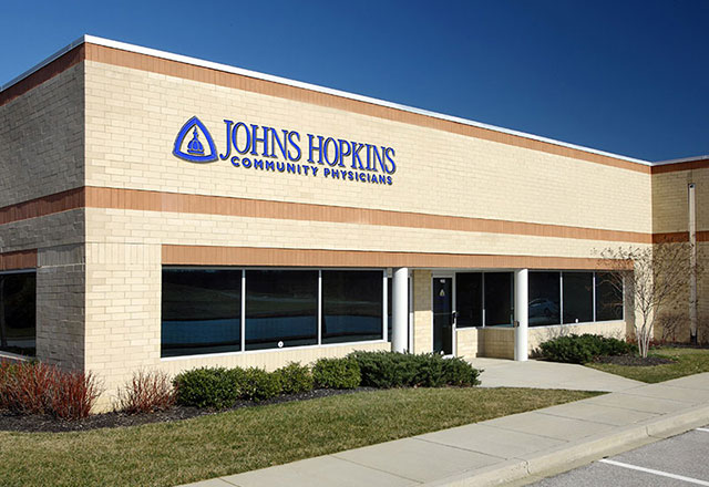 exterior photograph of the Johns Hopkins Community Physicians - Bowie location