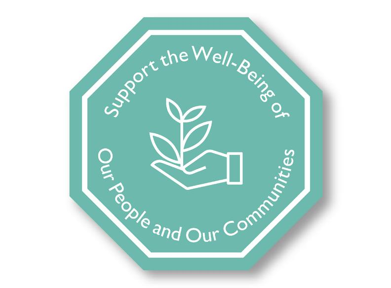 Support the wellbeing of our people and our communities