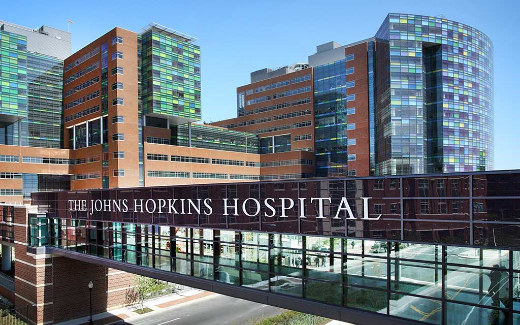 The Johns Hopkins Hospital front entrance