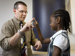Christopher Oakley is the new director of the Johns Hopkins Pediatric Headache Clinic.