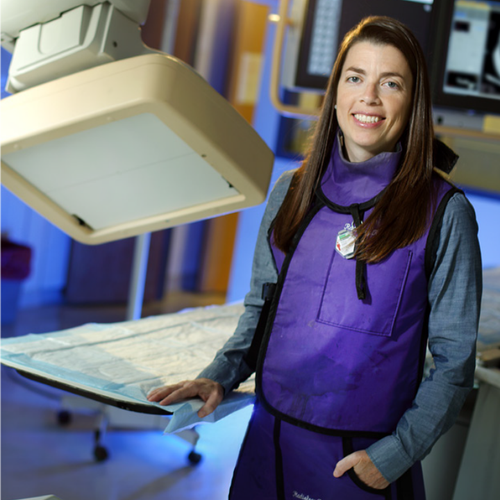 Rebecca Krimins in her radiology lab.