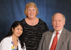 "Xuan ""Tashin"" Le-Nguyen '12 (left) was the 2011-2012 recipient of a scholarship established by Paula and Stephen Wetherill to honor Paula's aunt, Jewel Hart Coombe."