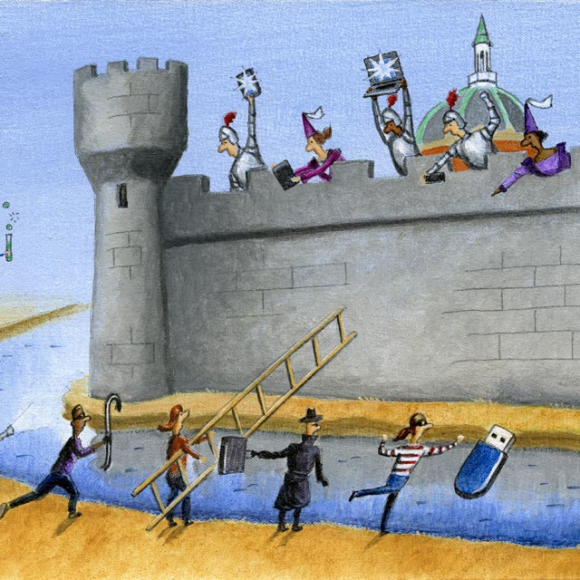 illustration of attack on a fortress