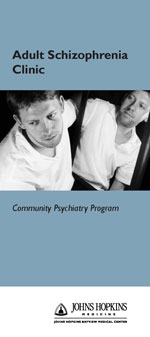 Adult Schizophrenia Clinic Brochure