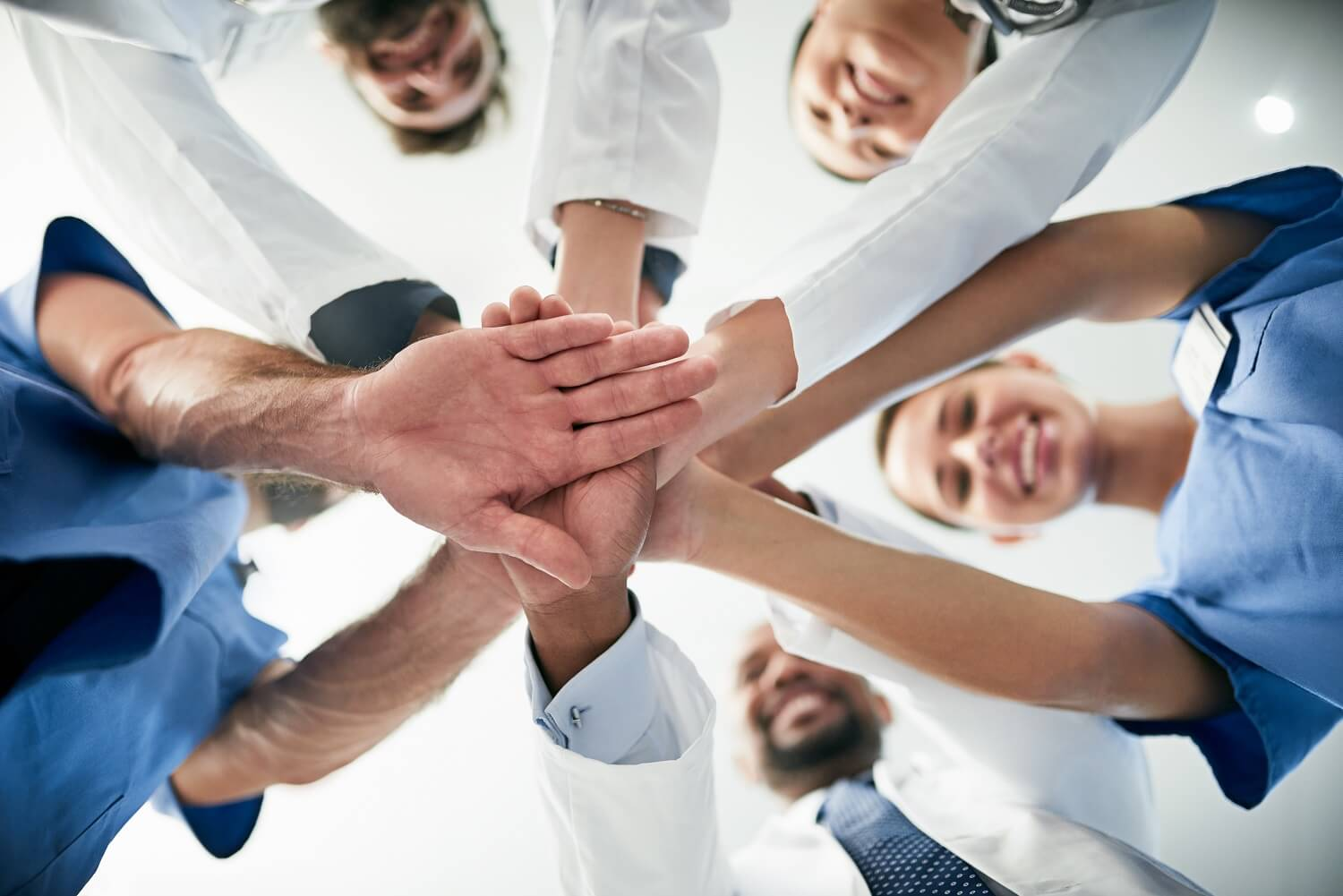 Teamwork, collaboration, doctors