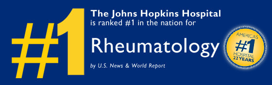 Rheumatology ranked no. 1 by U.S. News and World Report