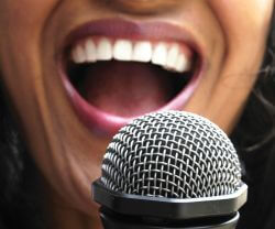 mouth and microphone