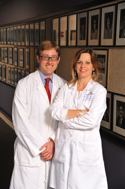 Otolaryngologist Simon Best and speech-language pathologist Kim Webster were a part of the team that made patient Tanino Gaudiano's supracricoid laryngectomy a success.