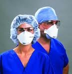 N951870 face masks on two medical workers