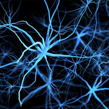 Brain cancer cells depicted in abstract