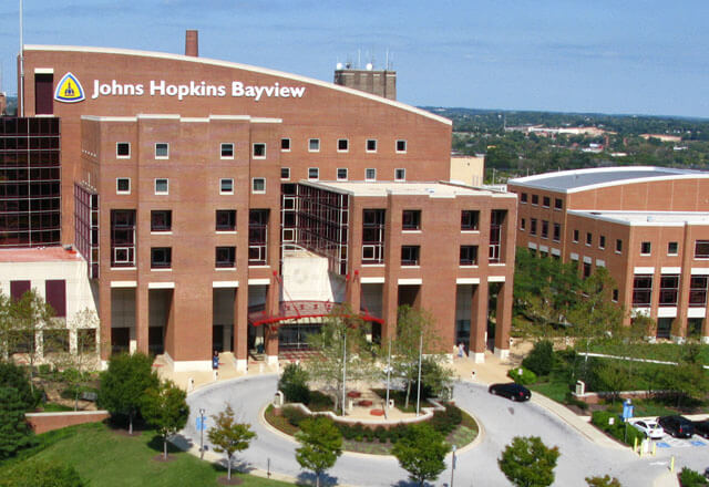 Photo of the Johns Hopkins Bayview campus