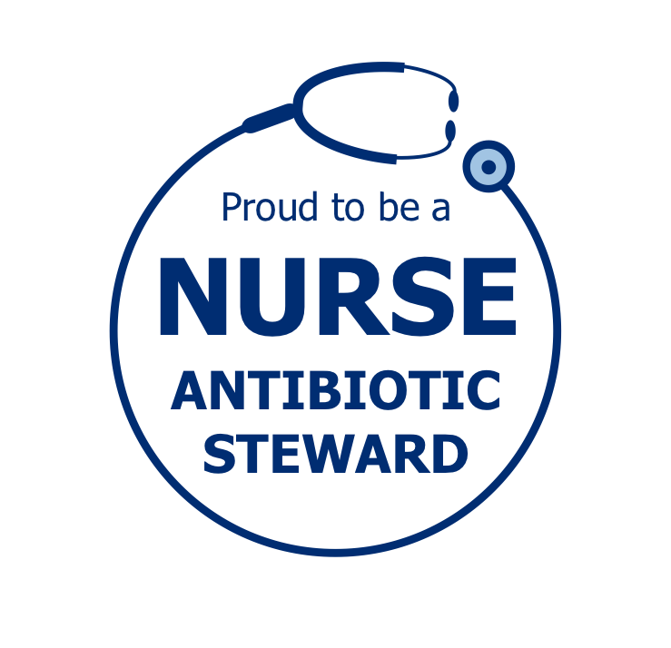 Proud To Be a Nurse Antibiotic Steward text graphic